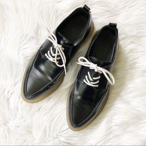 Zara Black Oxford Lace up Shoes